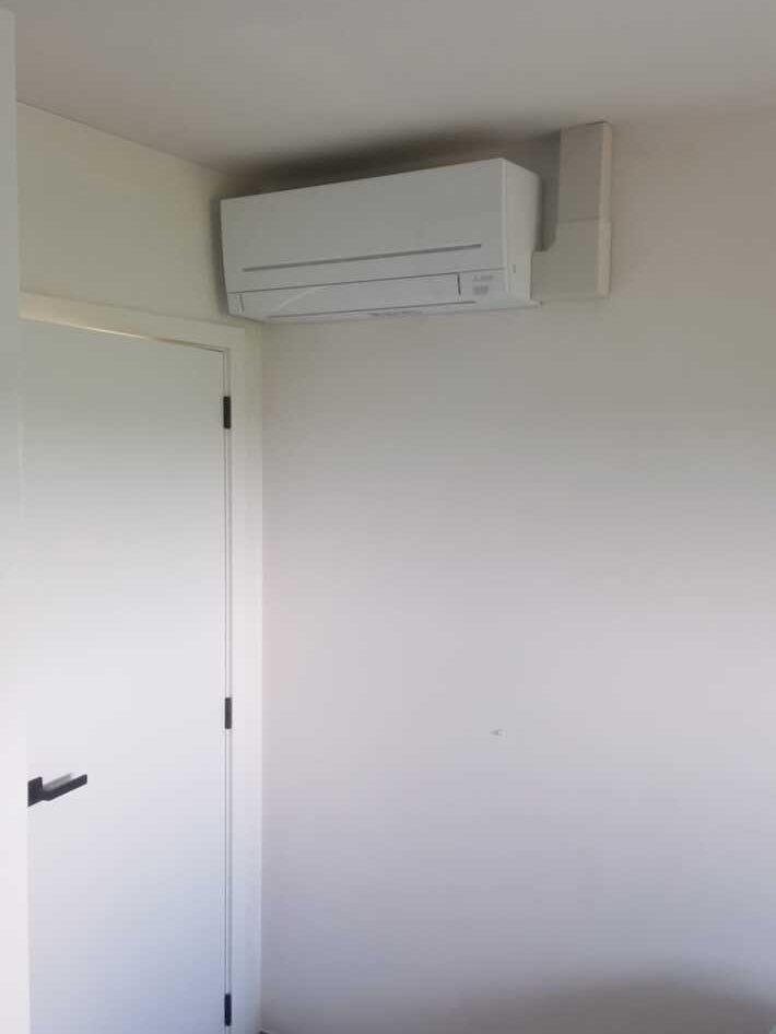 Realisatie Mitsubishi multisplit aircowarmtepomp met 4 binnenunits te Kester
