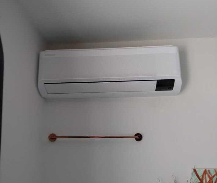 Realisatie Samsung multisplit airco/warmtepomp met 2 binnenunits Wind Free Comfort + Elite te Wetteren