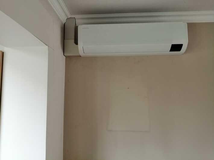 Realisatie Samsung multisplit airco/warmtepomp met 2 binnenunits wind free Comfort te Asse