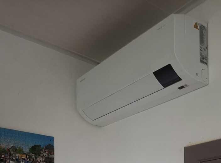 Realisatie Samsung multisplit airco/warmtepomp met 2 binnenunits wind free Comfort te Melle