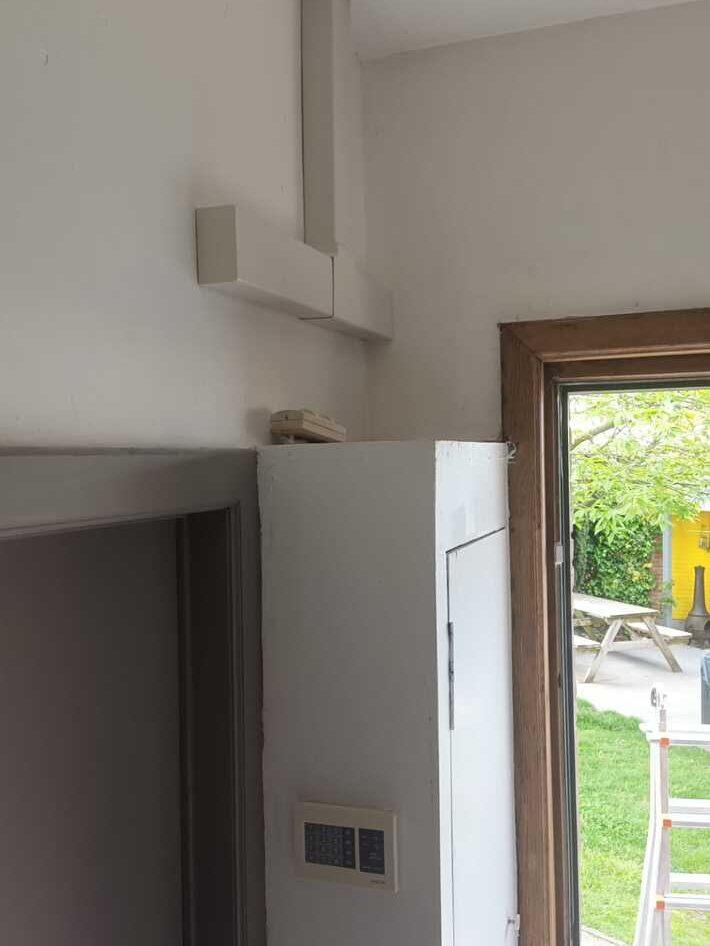 Realisatie Samsung multisplit aircowarmtepomp met 2 binnenunits wind free Comfort te Melle