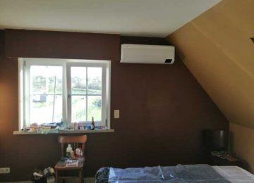 Realisatie Samsung multisplit airco/warmtepomp met 3 binnenunits Wind Free Comfort + Elite te Moortsele – Oosterzele
