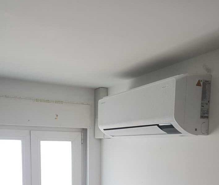 Realisatie Samsung multisplit airco/warmtepomp met 3 binnenunits wind free Comfort te Herzele