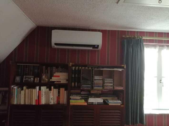 Realisatie Samsung multisplit aircowarmtepomp met 3 binnenunits wind free Comfort te Liedekerke