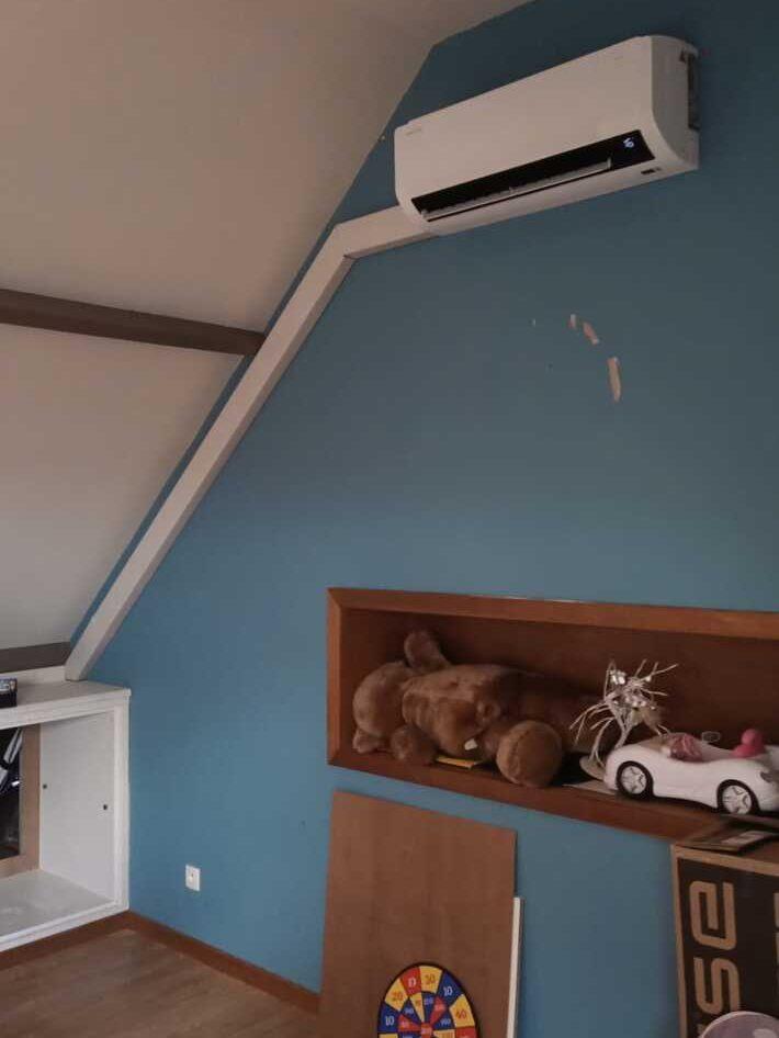 Realisatie Samsung multisplit aircowarmtepomp met 3 binnenunits wind free Comfort te Wichelen