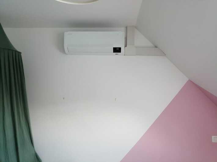 Realisatie Samsung multisplit airco/warmtepomp met 4 binnenunits wind free Comfort te Aalst