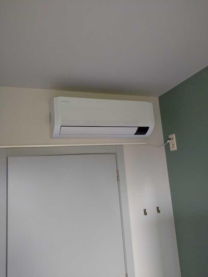 Realisatie Samsung multisplit aircowarmtepomp met 4 binnenunits wind free Comfort te Roosdaal