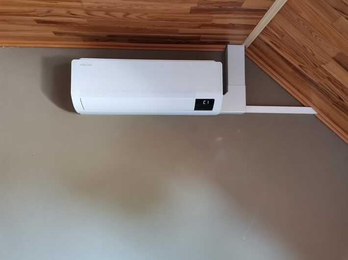 Realisatie Samsung multisplit aircowarmtepomp met 2 binnenunits Wind Free Comfort te Meldert-Aalst