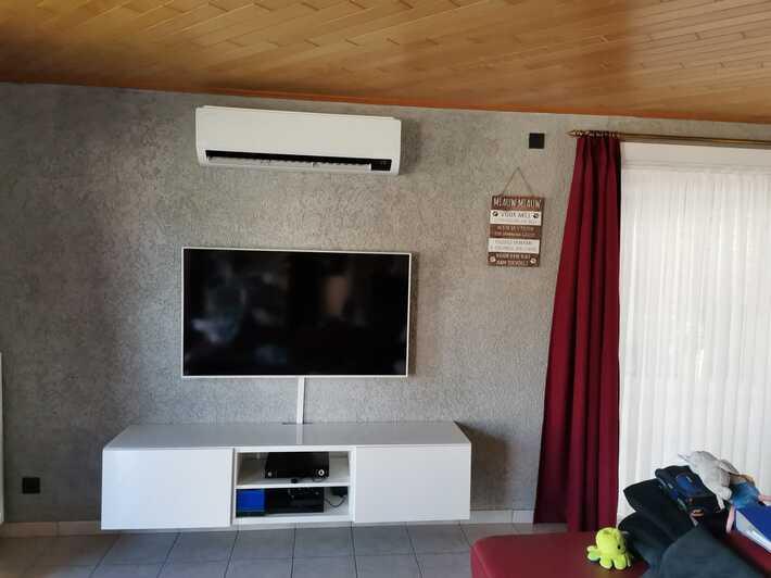 Realisatie Samsung multisplit airco/warmtepomp met 2 binnenunits Wind Free Comfort te Meldert-Aalst