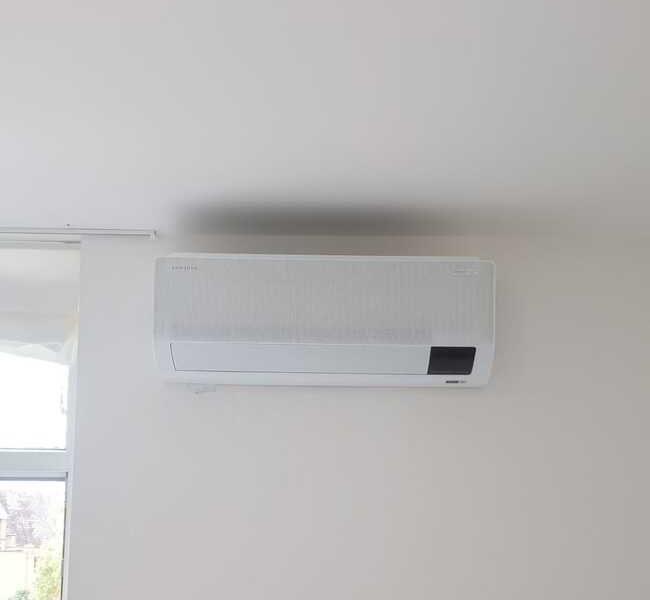 Realisatie Samsung multisplit airco/warmtepomp met 2 binnenunits Wind Free Comfort te Wetteren