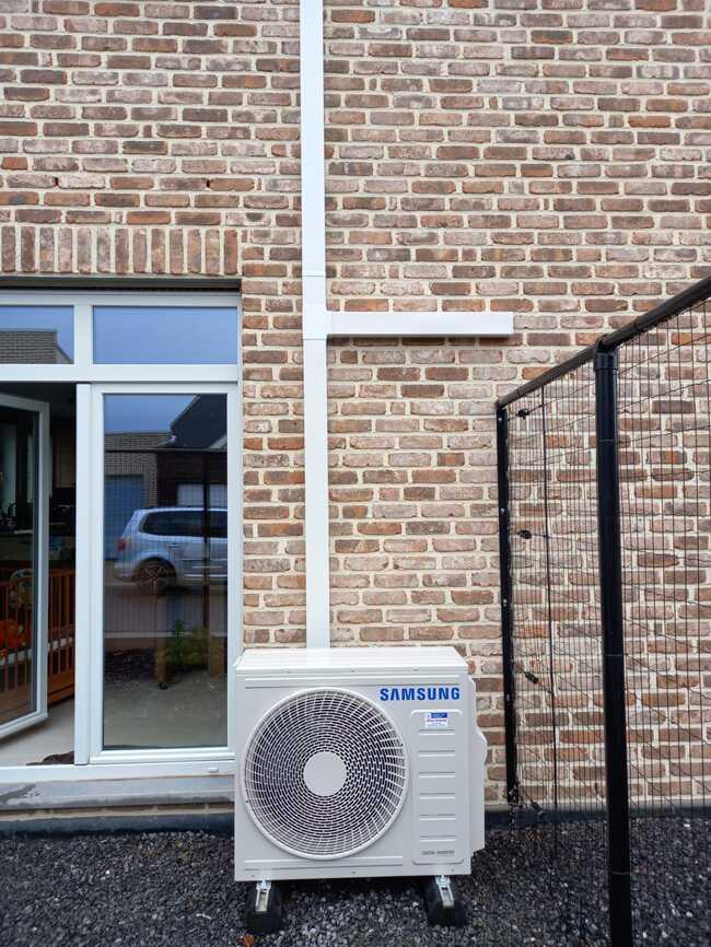 Realisatie Samsung multisplit aircowarmtepomp met 3 binnenunits Wind Free Comfort te Affligem