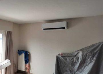 Realisatie Samsung multisplit airco/warmtepomp met 3 binnenunits Wind Free Comfort te Erpe