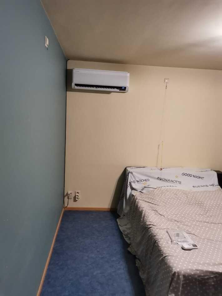 Realisatie Samsung multisplit aircowarmtepomp met 3 binnenunits Wind Free Comfort te Erpe