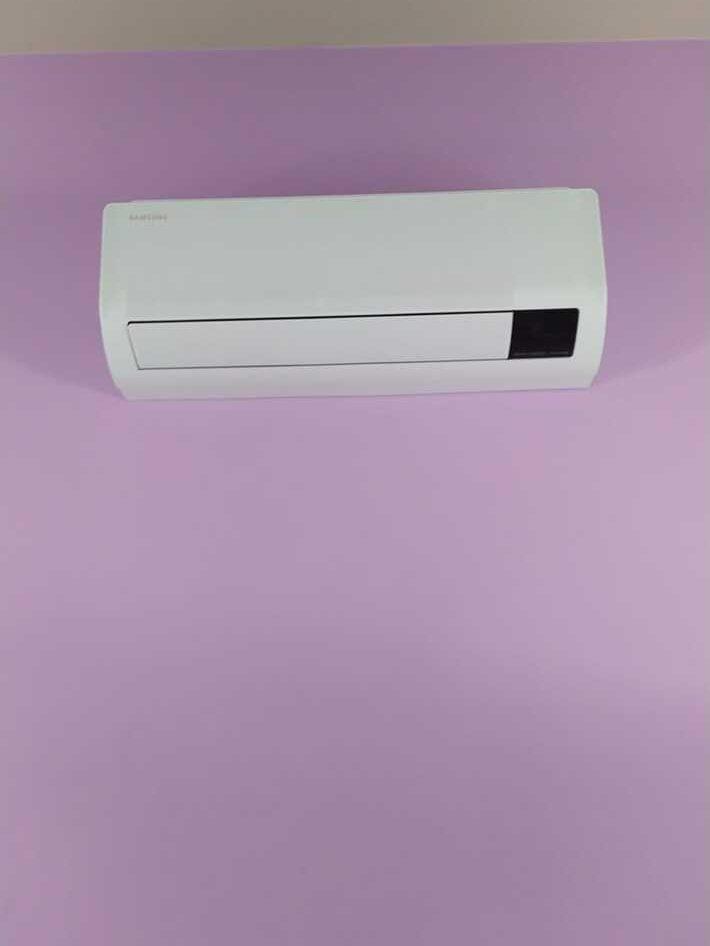 Realisatie Samsung multisplit aircowarmtepomp met 4 binnenunits wind free Comfort te Erembodegem