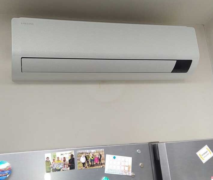 Realisatie Samsung multisplit airco/warmtepomp met 4 binnenunits wind free Comfort te Erembodegem
