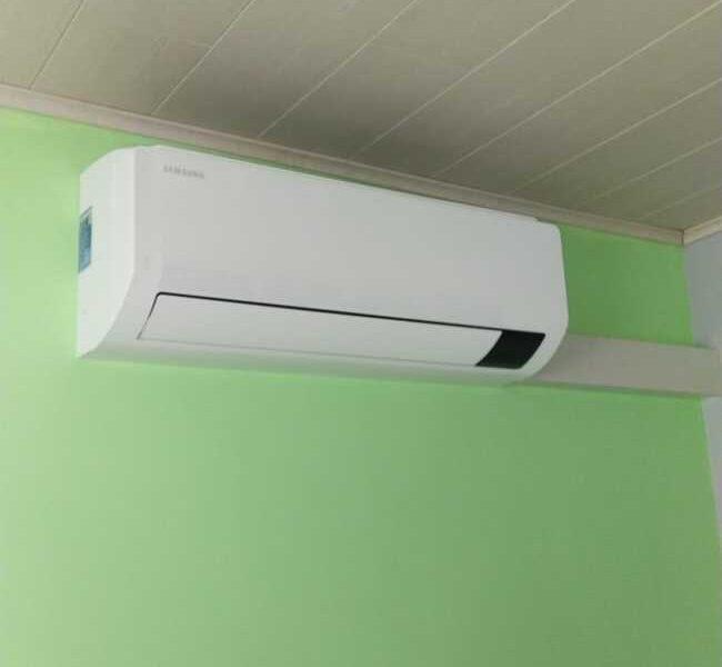Realisatie Samsung multisplit airco/warmtepomp met 4 binnenunits wind free Comfort te Kerksken