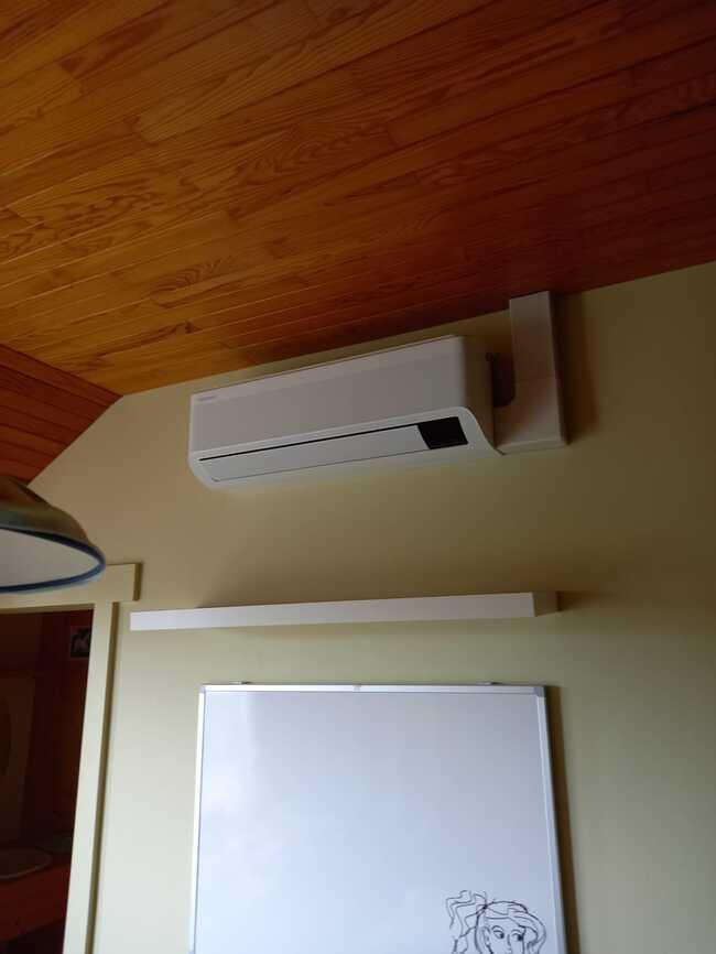 Realisatie Samsung multisplit aircowarmtepomp met 5 binnenunits Wind Free Comfort + Elite te Bever