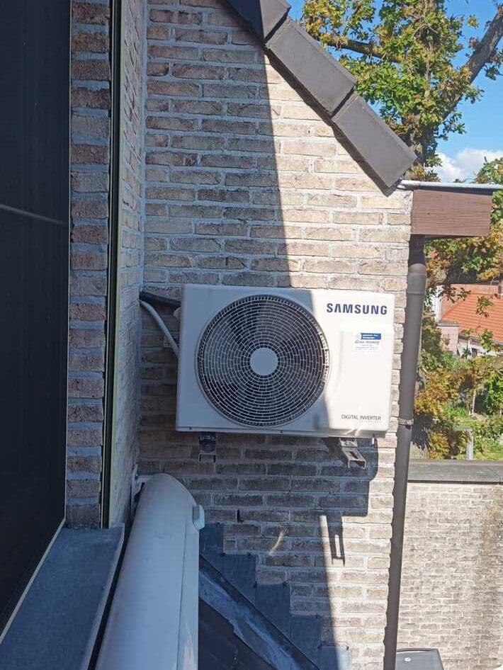 Realisatie Samsung single split warmtepomp te Lokeren