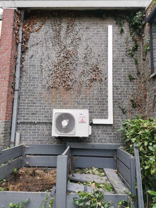 Realisatie Mitsubishi single split aircowarmtepomp te Uitbergen