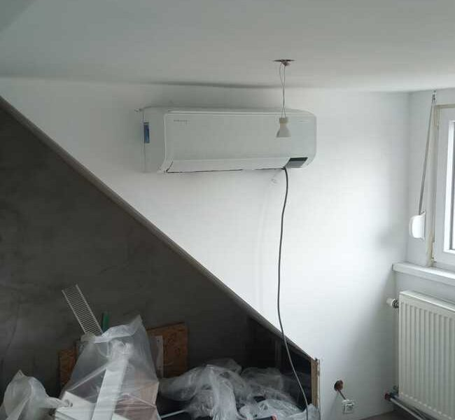 Realisatie Samsung multisplit airco/warmtepomp met 2 binnenunits Wind Free Comfort te Brusselsesteenweg in Asse