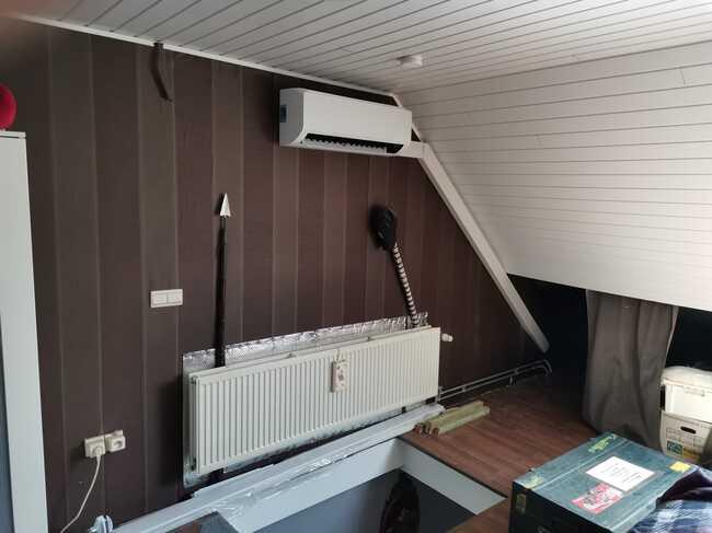 Realisatie Samsung multisplit airco/warmtepomp met 2 binnenunits Wind Free Comfort te Herdersem