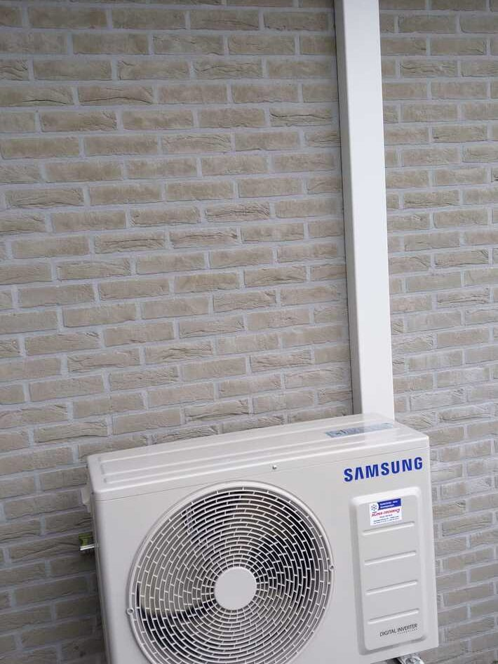 Realisatie Samsung multisplit aircowarmtepomp met 2 binnenunits Wind Free Elite te Scheldewindekerke
