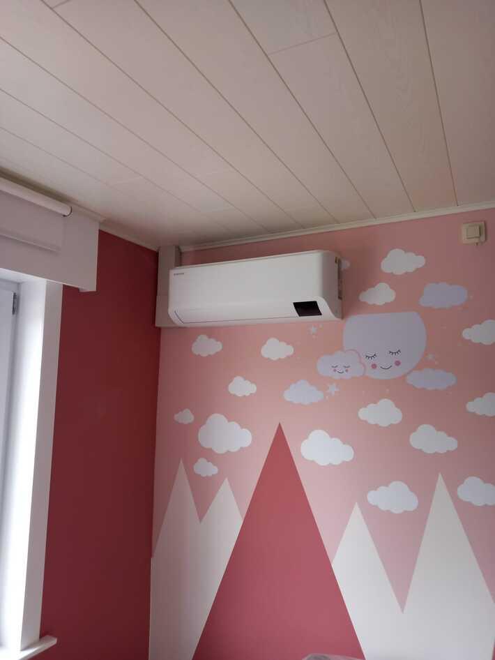 Realisatie Samsung multisplit aircowarmtepomp met 3 binnenunits Cebu te Moorsel