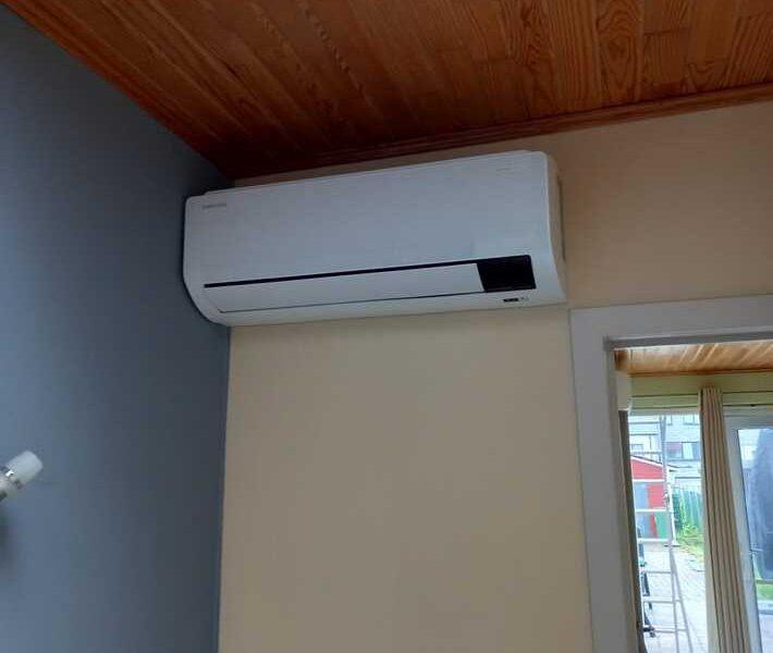 Realisatie Samsung multisplit airco/warmtepomp met 3 binnenunits Wind Free Comfort te Denderhoutem