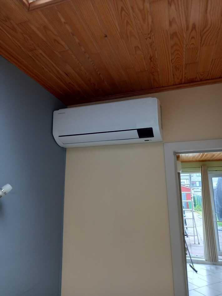 Realisatie Samsung multisplit aircowarmtepomp met 3 binnenunits Wind Free Comfort te Denderhoutem