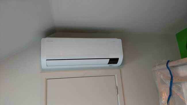 Realisatie Samsung multisplit airco/warmtepomp met 3 binnenunits Wind Free Comfort te Lede