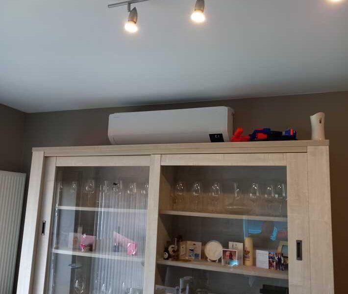 Realisatie Samsung multisplit airco/warmtepomp met 4 binnenunits Wind Free Comfort Brugstraat te Berlare