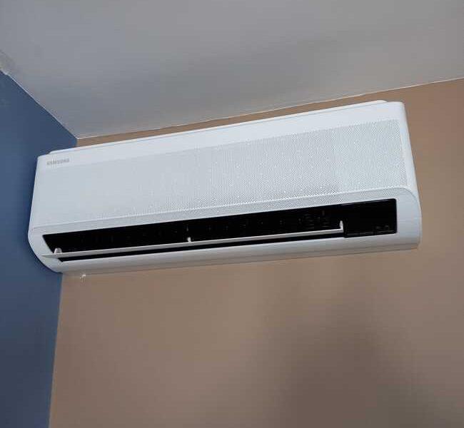 Realisatie Samsung multisplit airco/warmtepomp met 5 binnenunits Wind Free Comfort + Elite te Aalst
