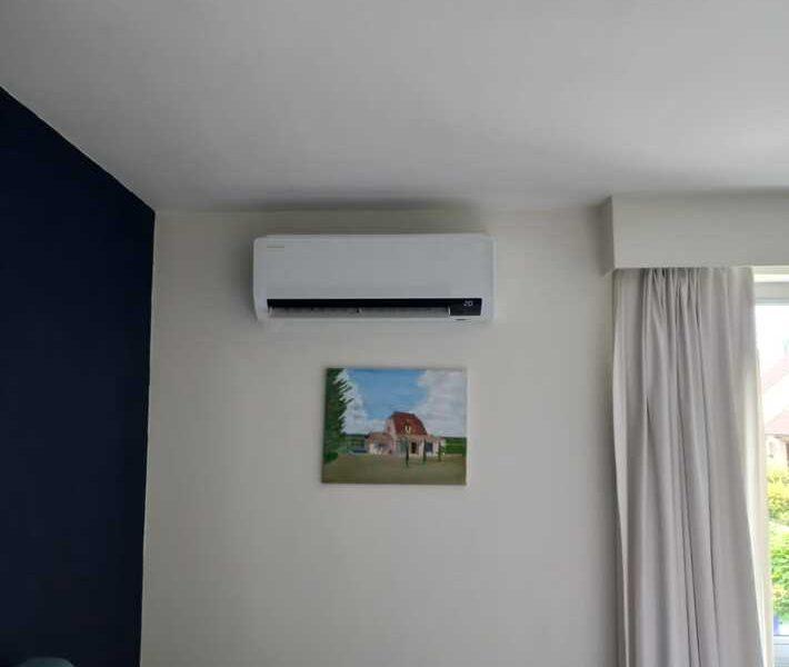 Realisatie Samsung multisplit airco/warmtepomp met 5 binnenunits Wind Free Comfort te Borsbeke