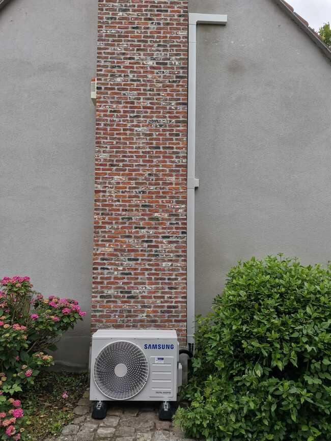 Realisatie Samsung single split warmtepomp te Dendermonde
