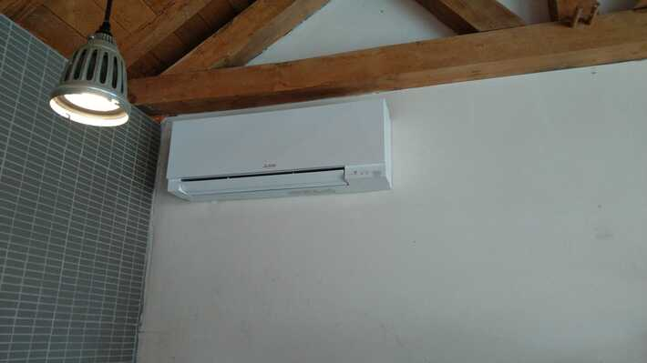 Realisatie Mitsubishi single split airco/warmtepomp te Lede