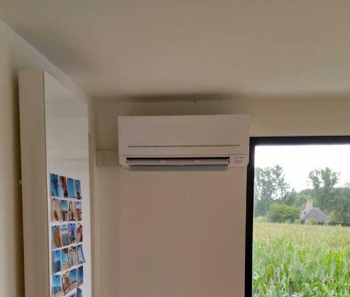 Realisatie Mitsubishi single split airco/warmtepomp te Zottegem