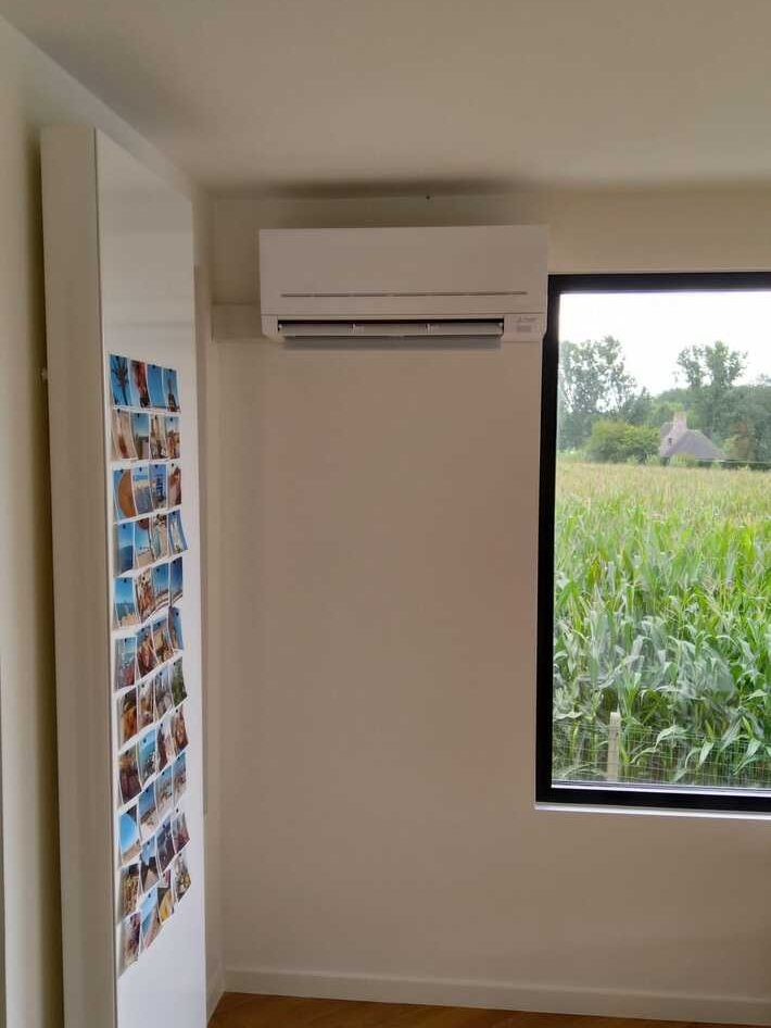 Realisatie Mitsubishi single split aircowarmtepomp te Zottegem