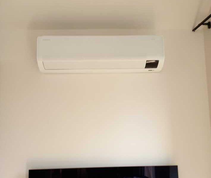 Realisatie Samsung multisplit airco/warmtepomp met 3 binnenunits Wind Free Comfort te Roosdaal