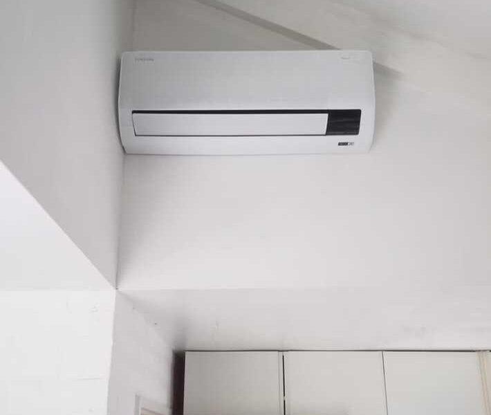 Realisatie Samsung multisplit airco/warmtepomp met 4 binnenunits Wind Free Comfort + CEBU + LUZON  te Merelbeke