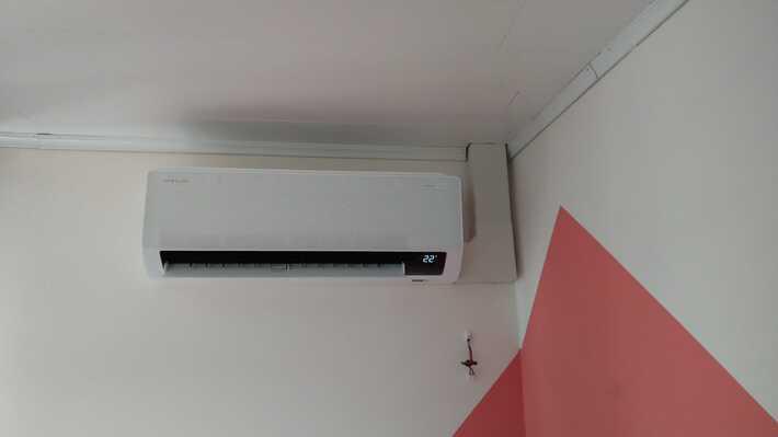 Realisatie Samsung multisplit airco/warmtepomp met 5 binnenunits Wind Free Comfort te Bavegem