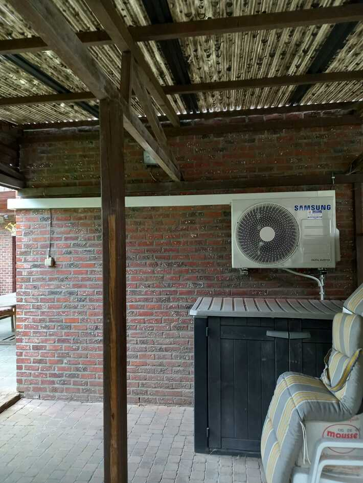 Realisatie Samsung multisplit aircowarmtepomp met 2 binnenunits CEBU te Aalst