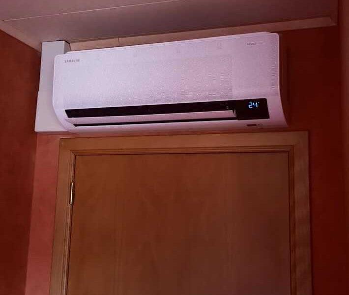 Realisatie Samsung multisplit airco/warmtepomp met 2 binnenunits Wind Free Comfort Kluisdreef te Aalst