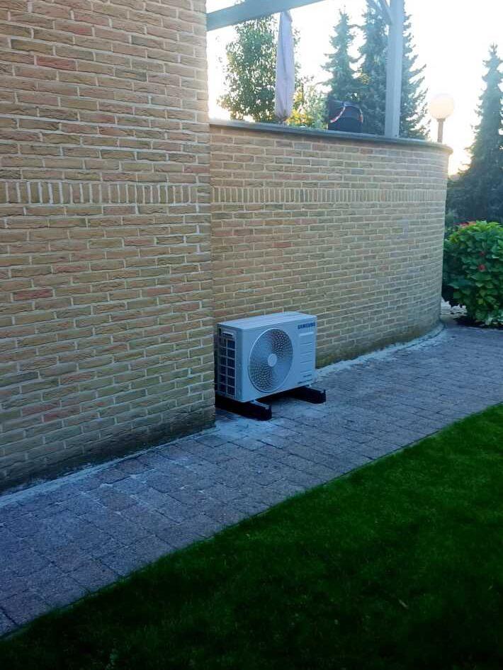 Realisatie Samsung multisplit aircowarmtepomp met 2 binnenunits Wind Free Comfort KLuisdreef te Aalst