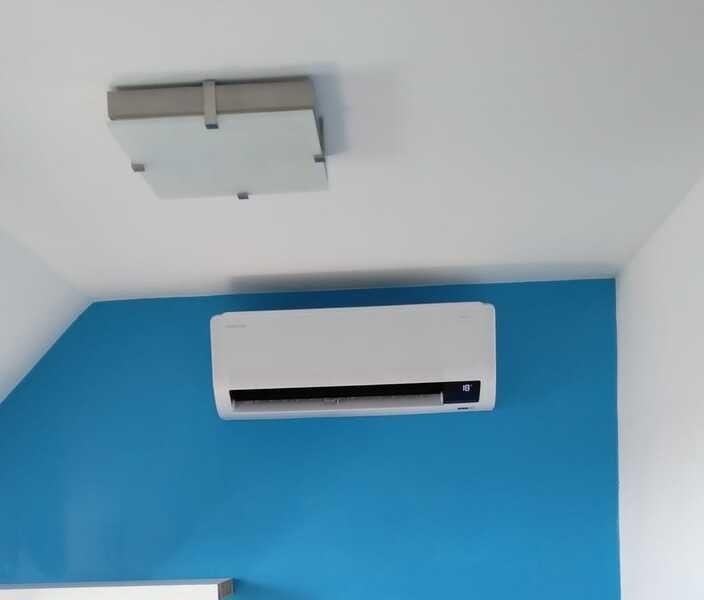 Realisatie Samsung multisplit airco/warmtepomp met 2 binnenunits Wind Free Comfort te Herzele