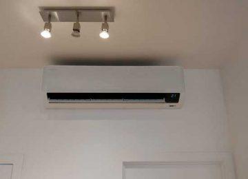Realisatie Samsung single split airco/warmtepomp Wind Free Comfort te Gent