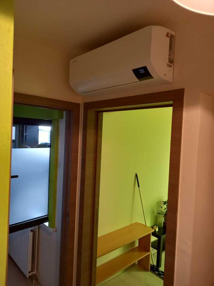 Realisatie Samsung multisplit aircowarmtepomp met 3 binnenunits LUZON te Merelbeke