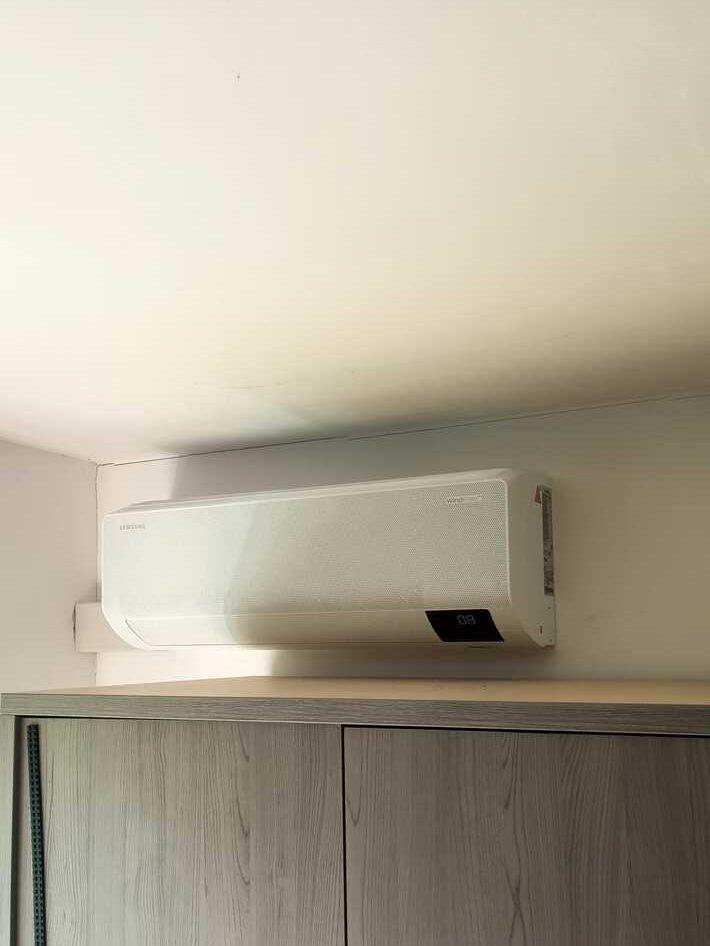 Realisatie Samsung multisplit aircowarmtepomp met 3 binnenunits Wind Free Comfort + CEBU te Drongen