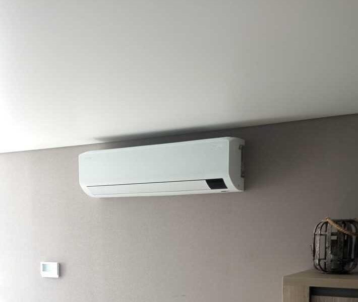 Realisatie Samsung multisplit airco/warmtepomp met 2 binnenunits CEBU  te Aalst
