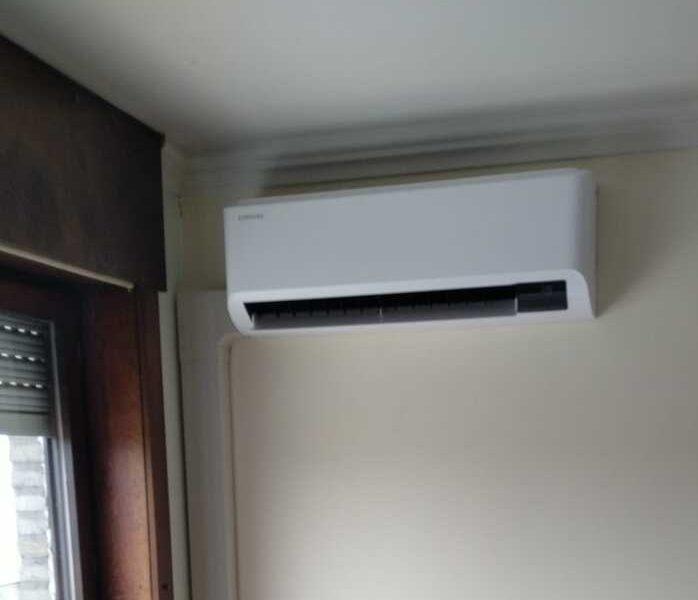 Realisatie Samsung single split airco/warmtepomp CEBU te Erpe-Mere