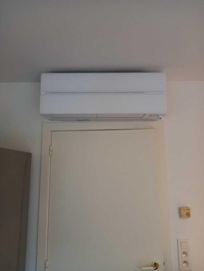 Realisatie Mitsubishi multisplit aircowarmtepomp met 3 binnenunits te Aalst